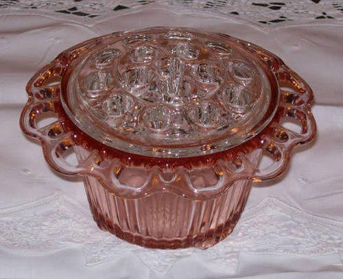Pin On Depression Glassware, Vintage Pink Depression Glass Vase