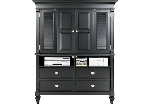 Shop For A Belmar Black Media Armoire At Rooms To Go. Find Armoires That  Will