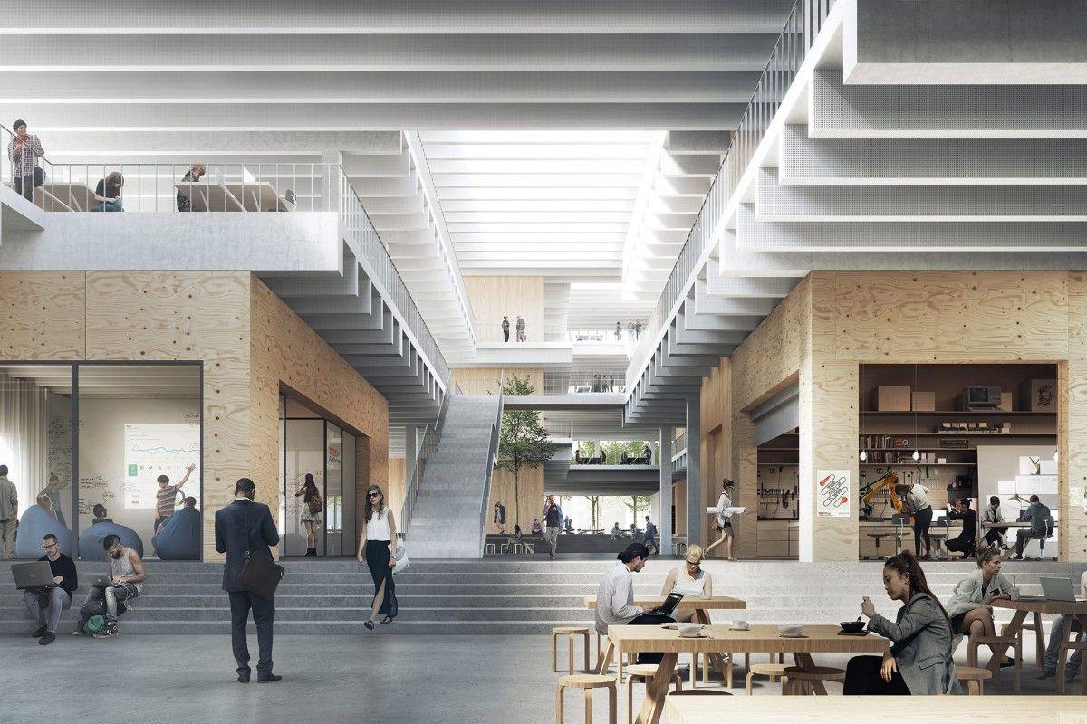 Cobe The Science Innovation Hub Aalborg 2 Architecture Visualization University Architecture Architecture