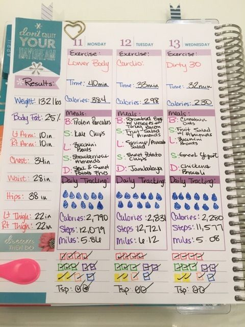 Fitness Tracking with Erin Condren Life Planner Planners Track