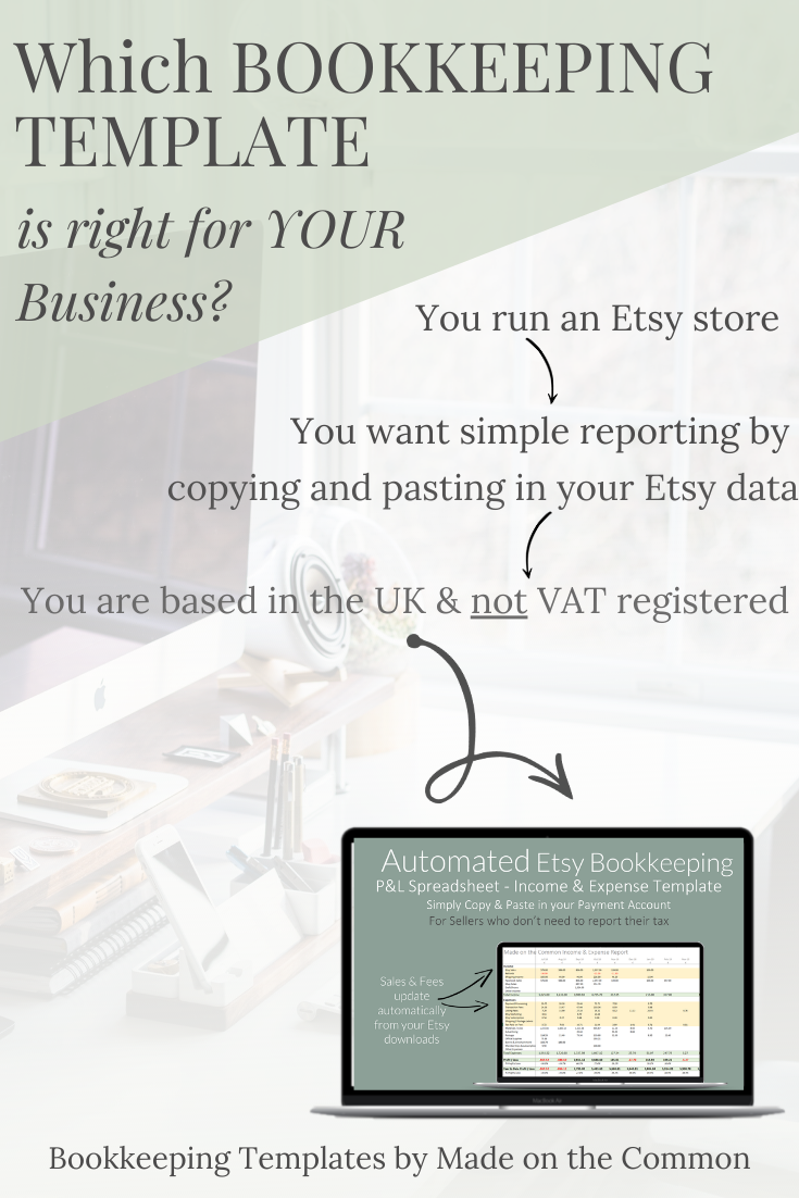 Etsy Seller Automated Bookkeeping Spreadsheet No Tax