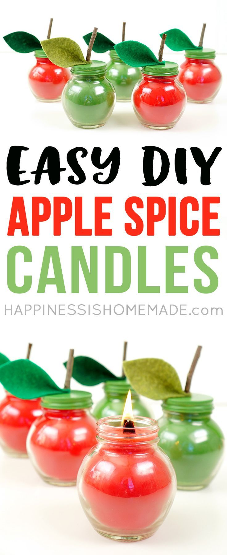 Ever wondered how to make candles? These Easy DIY Apple