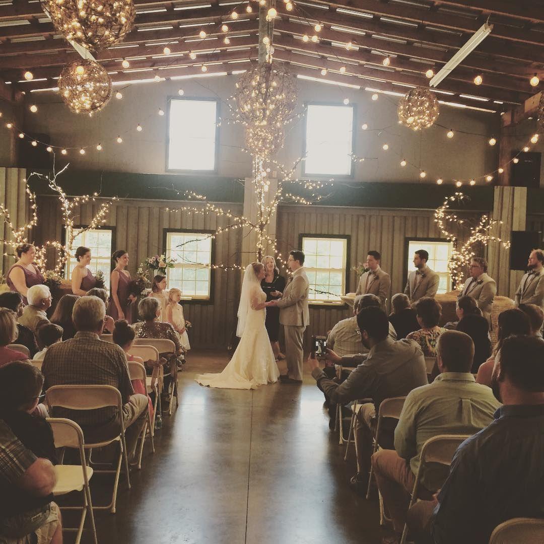 Beautiful Indoor Wedding Ceremony: Absolutely Beautiful Indoor Ceremony In Our Barn Last