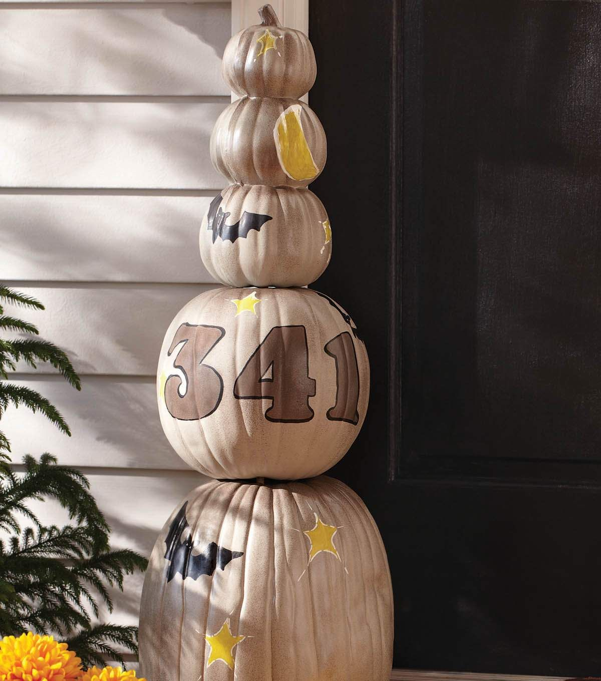 Pumpkin Totem Halloween decor Pinterest Totems and Holidays