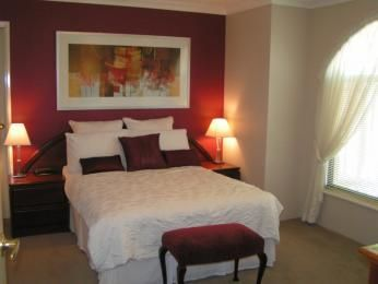 Red Feature Wall Bedroom