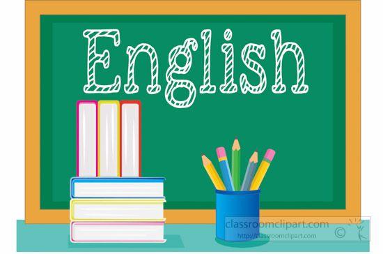 Classroom english. School class chalkboard with