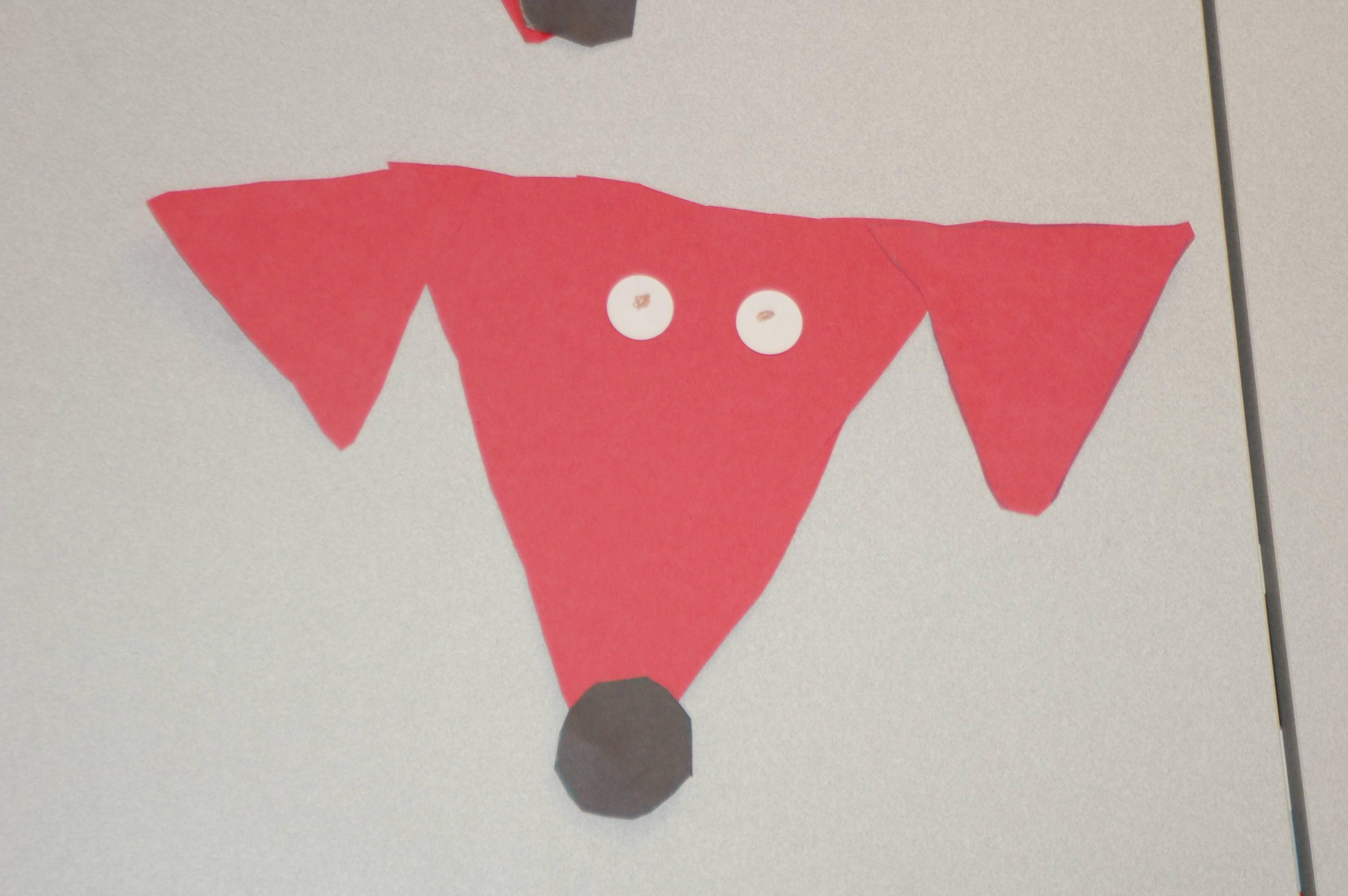 Big Red Triangle Dog