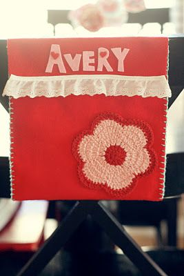 Buggie and Jellybean: Valentine's Day Chair Pockets {DIY}