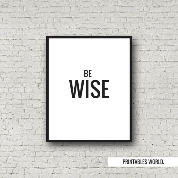 Being Wise Printable Poster Instant Download by PrintablesWorld