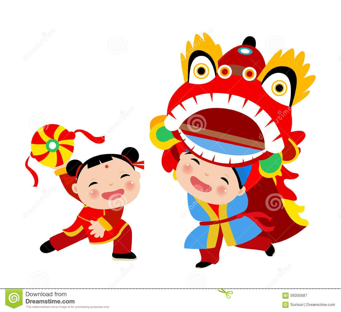 Happy Chinese New Year/Lion Dance Royalty Free Stock