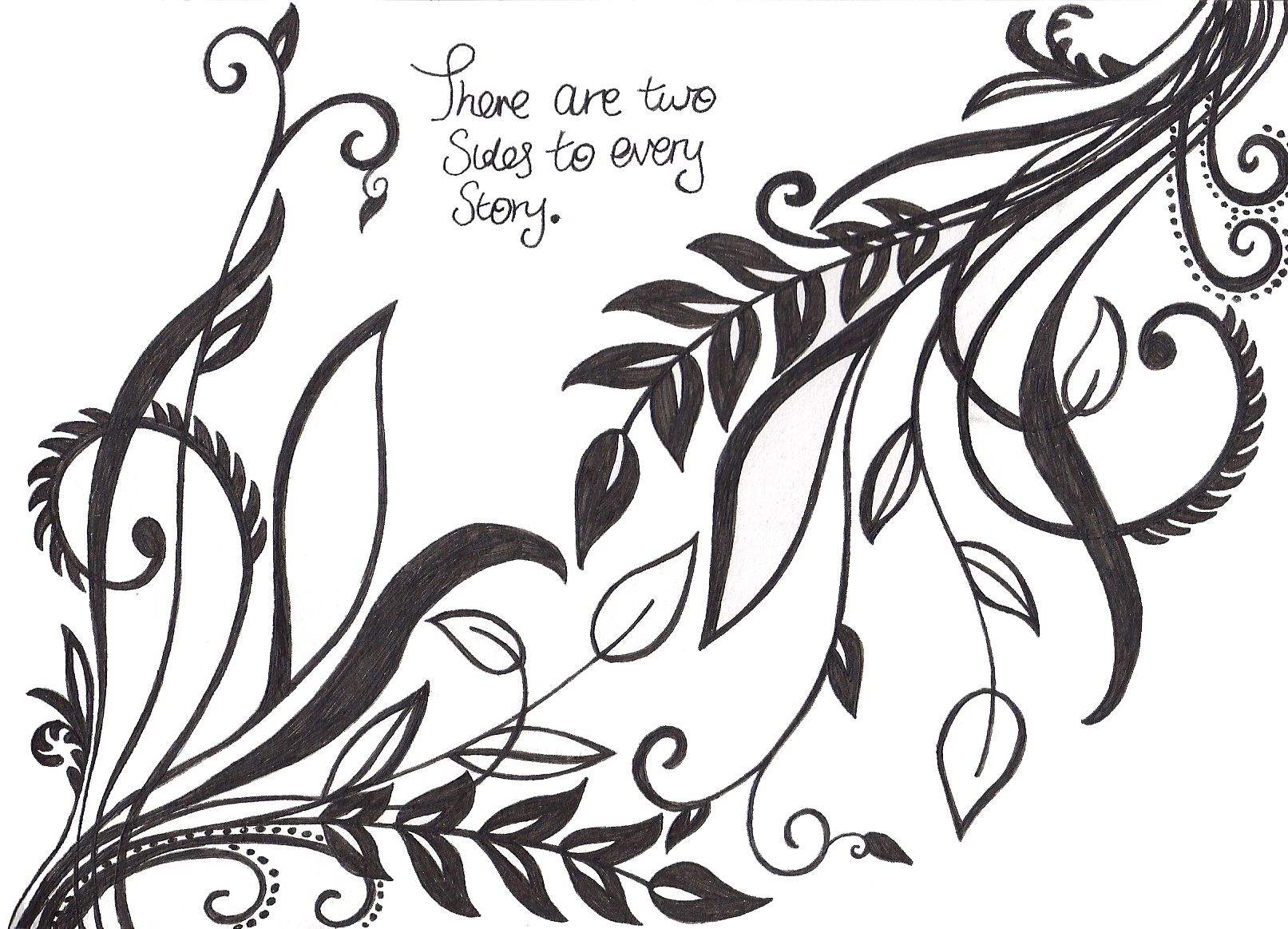art quote drawing design leaves pattern swirls drawings
