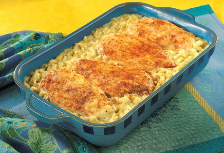 Cheesy chicken rice campbells recipe