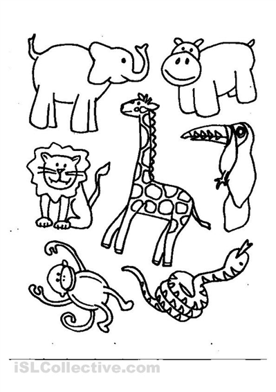 animals coloring - Coloring For Kids Animals