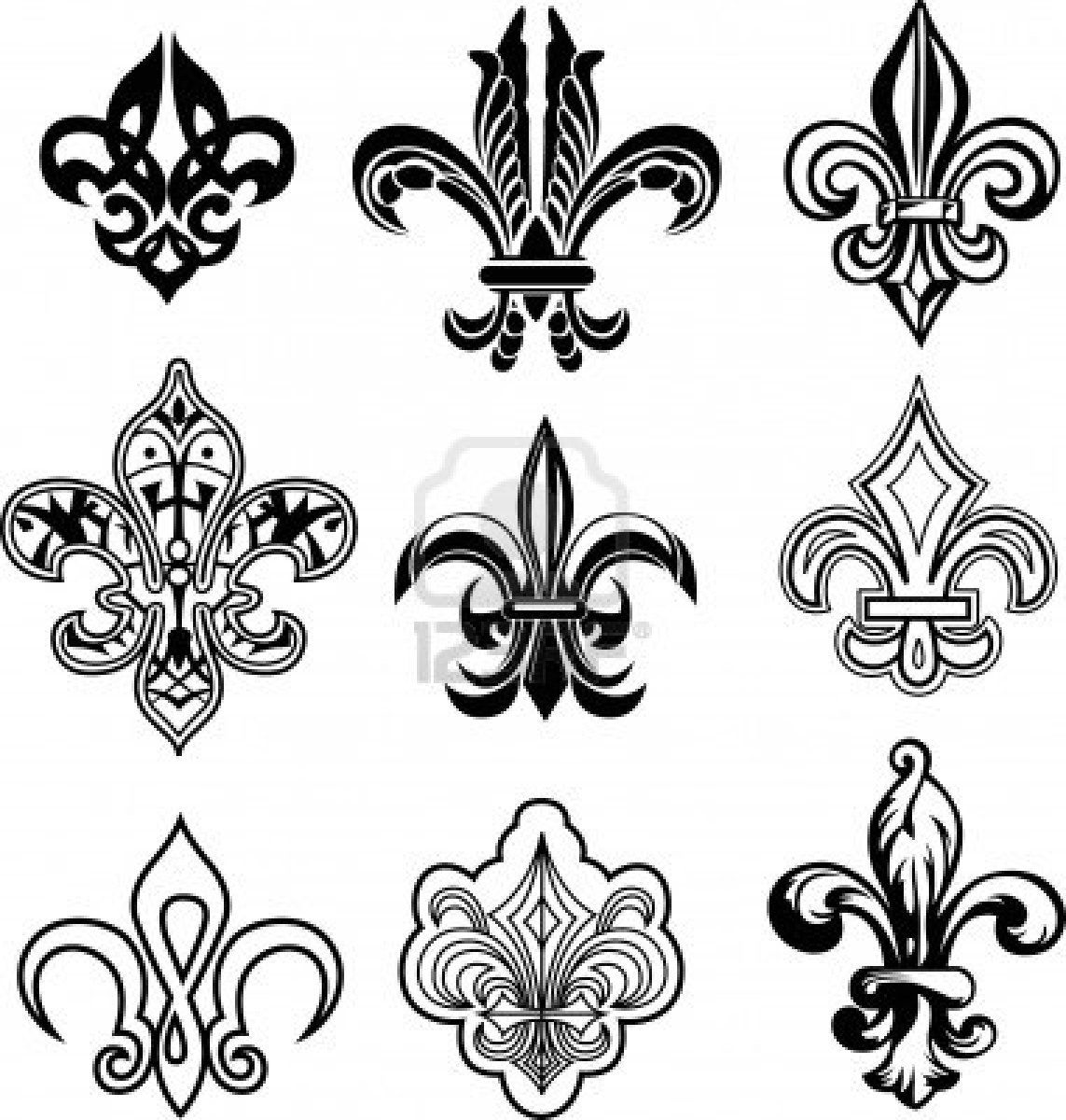 fleur de lys set stock photo 9468940 fleur de lis. Black Bedroom Furniture Sets. Home Design Ideas