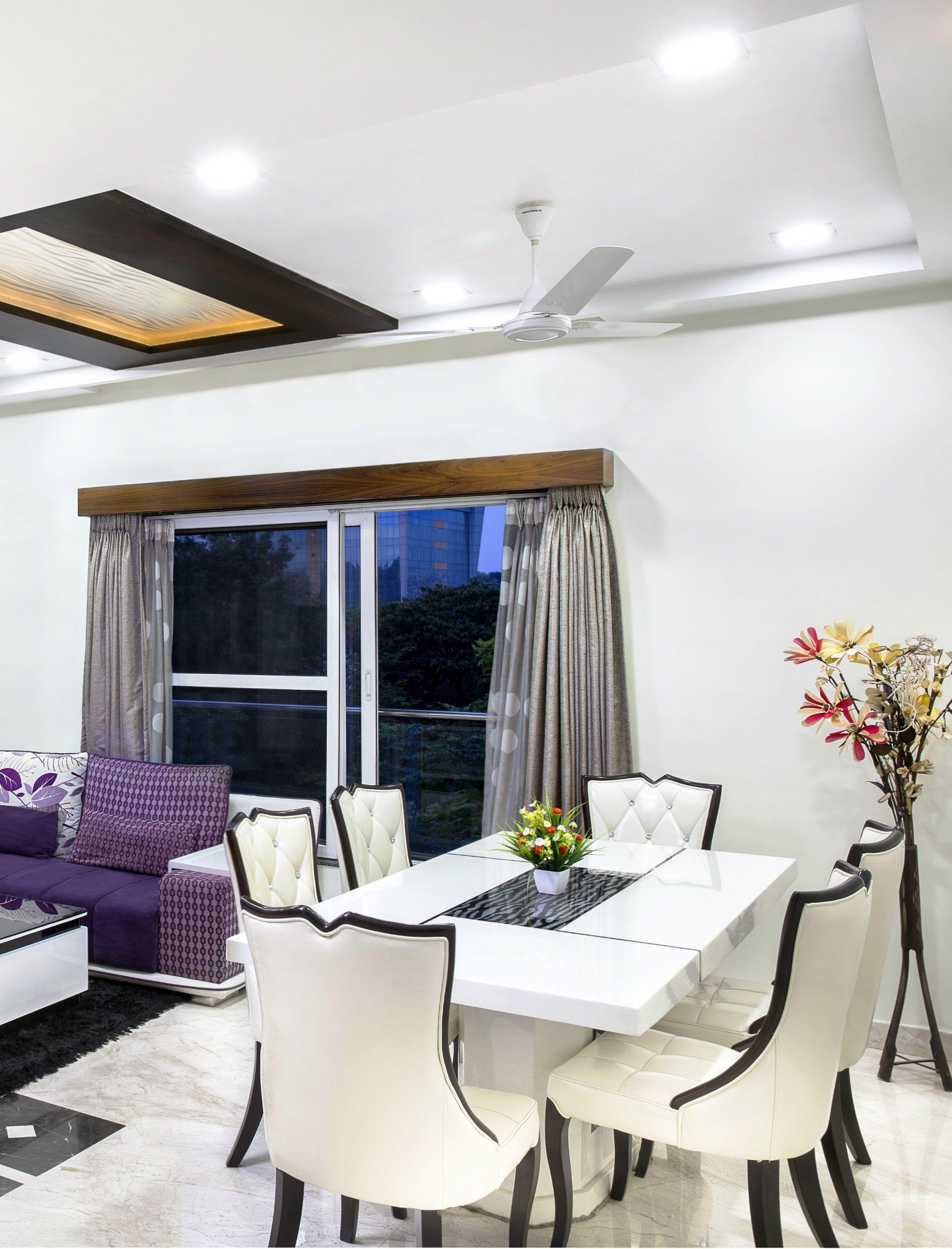 An elegant white living room with marble floor. #marble #floor ...