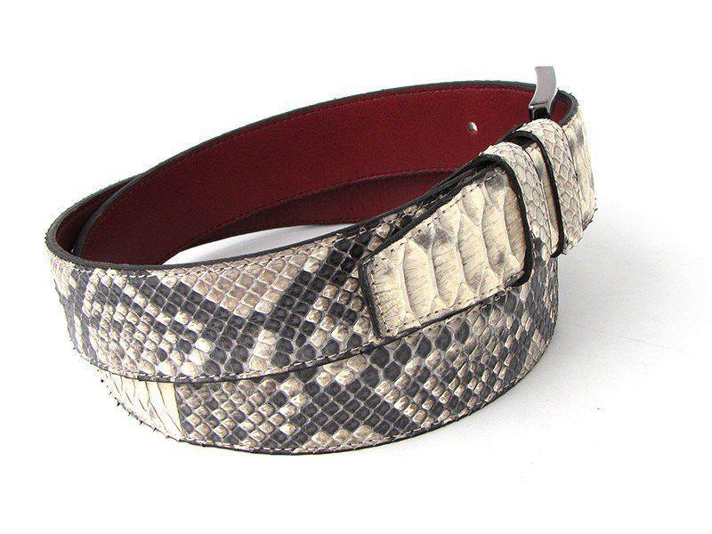 Paul Parkman Men's Natural Genuine Python (Snakeskin) Belt