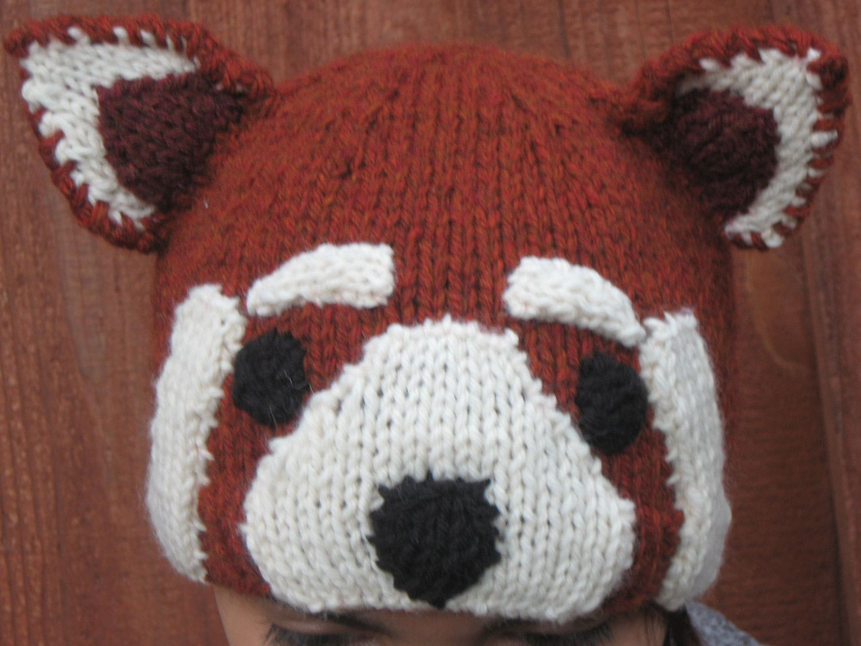 Contemporary Knit Panda Hat Pattern Photo - Blanket Knitting Pattern ...