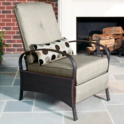 Outdoor Patio La Z Boy Tan Reclincer Chair 299 On Sale From Target Com Originally 37 Reclining Outdoor Chair Patio Furniture Sets Lazy Boy Outdoor Furniture