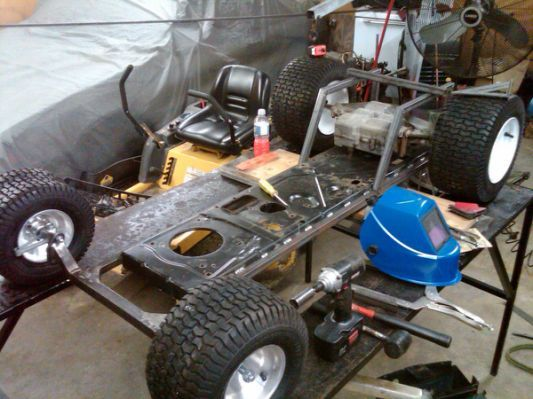 Building Racing Lawn Mower