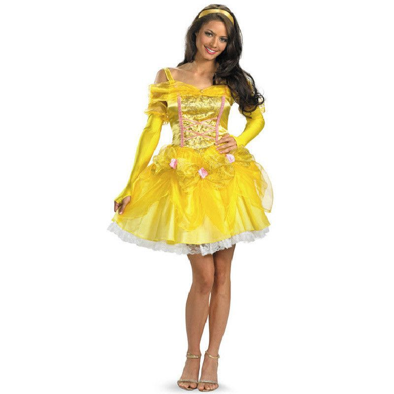 beauty and the beast cosplay adult princess belle costume party ...