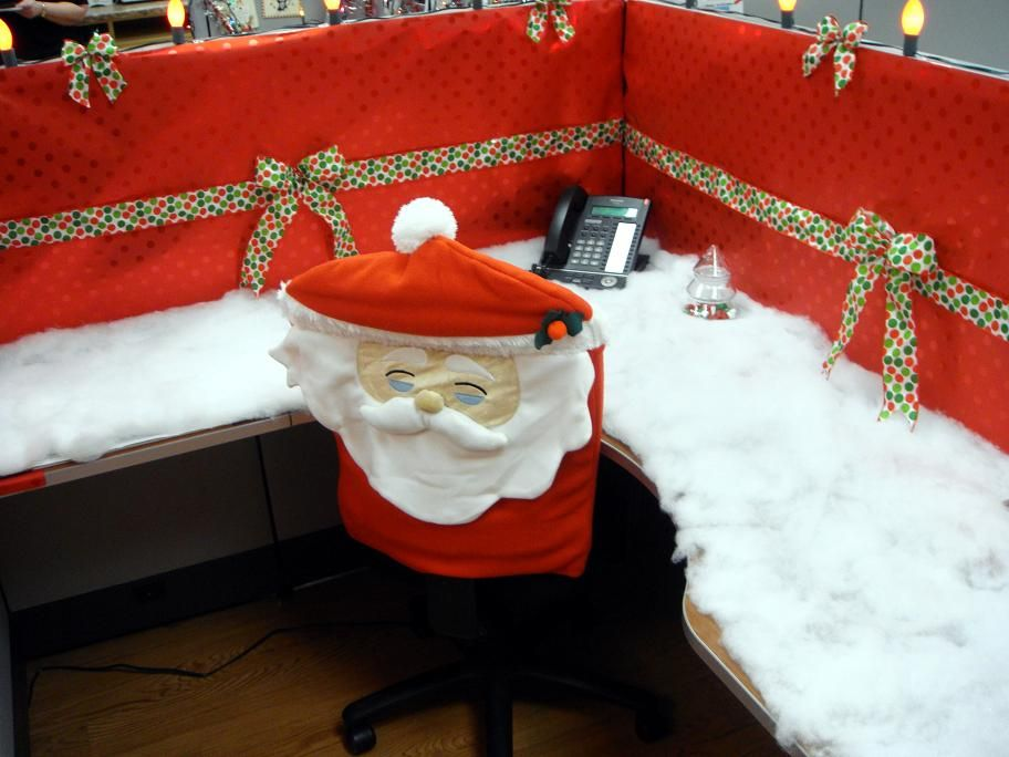 I am sad that I did not get to post this much earlier in the season - decorate cubicle for halloween