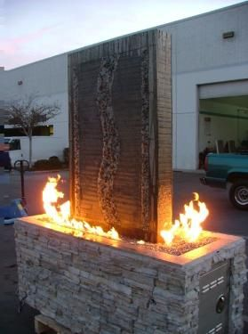 Waterfall Fire Pit Combinations New