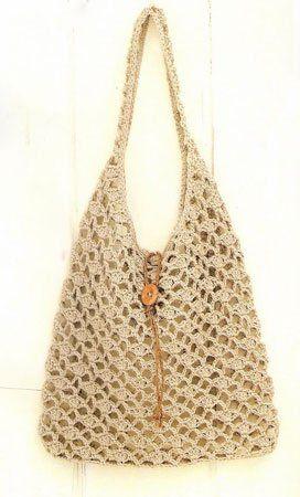 9a18e56fc2bd вязаная крючком летняя сумка   Сумки   Sac au crochet, Panier ...
