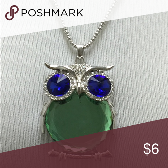 owl pendant sweater chain necklace body green boutique pinterest