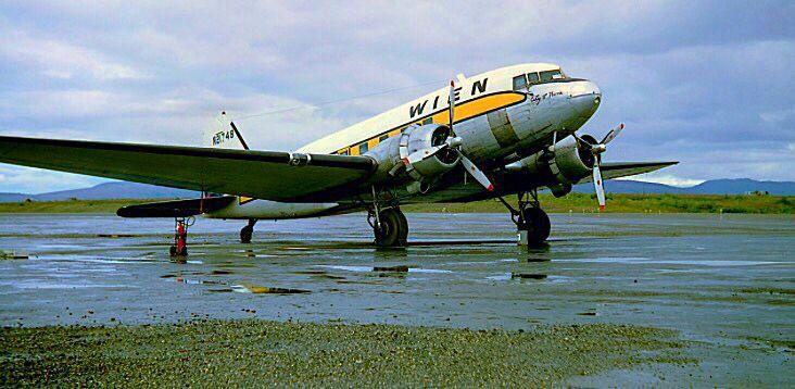 A Wien Airlines Douglas Dc 3 208a In Nome Alaska Alaska Air