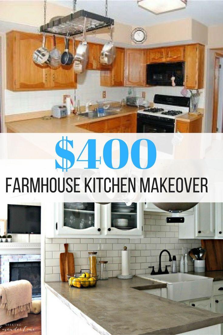 A 400 Kitchen Makeover Budget Kitchen Remodel Kitchen Diy Makeover Farmhouse Kitchen Backsplash