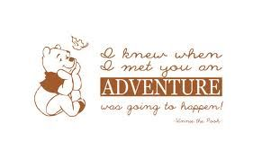 as soon as i saw you i knew an adventure was about to happen winnie the pooh - Google Search