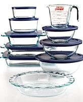 Pyrex Food Storage Containers, 18 Piece Bake and Prep Set