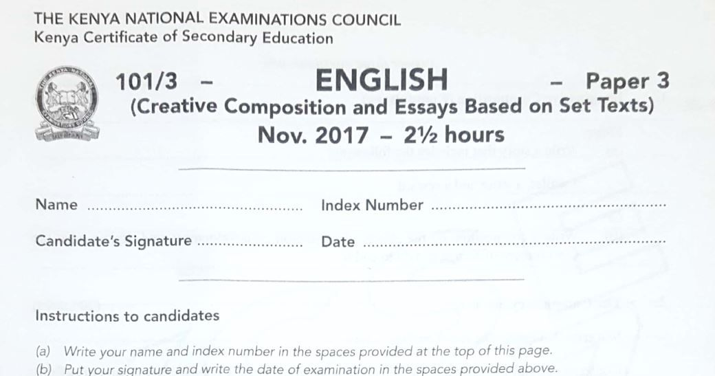 How to pass English KCSE Exams in Kenya and pdf Past Papers