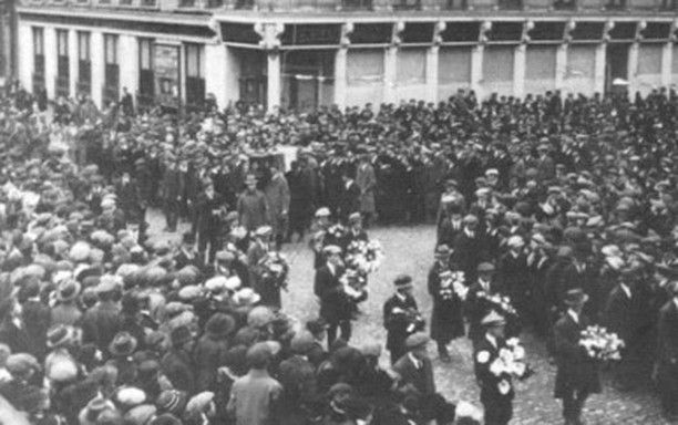 On this day 10 April 1919 Robert Byrne was buried in Limerick. His funeral became a grand show of defiance with over 10000 people joining the cortege as the coffin was carried to St Johns Cathedral. Since January the Inspector General of the Royal Irish Constabulary had been warning that Ireland is unquestionably in a highly inflammable condition and proclaiming the urgent necessity for the presence of an over-powering military force. On 11 April the centre of Limerick was declared to be…
