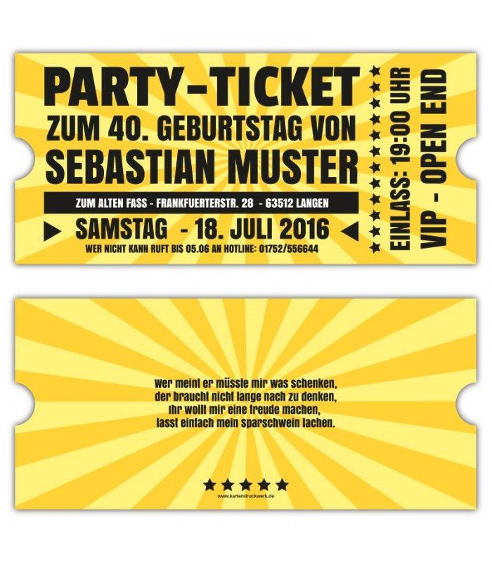 einadungskarten- vip-retro-ticket-eintrittskarten-gestalten-40.-30, Einladung