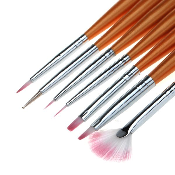 7 Nail Art Design Drawing Painting Pen Polish Brush Set Fun Nails