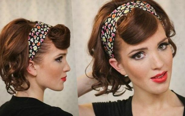 Coiffure Pin Up Cheveux Courts Http Lookvisage Ru Coiffure Pin