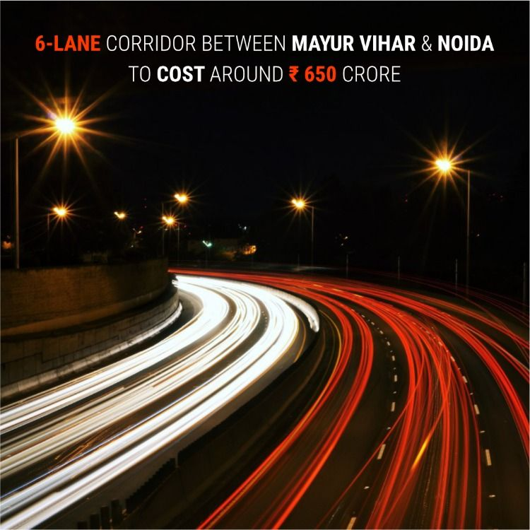 The Construction Of The Six Lane Elevated Corridor Between Mayur Vihar And Greater Noida Proposed Make Money From Home How To Make Money Make Money Online Now