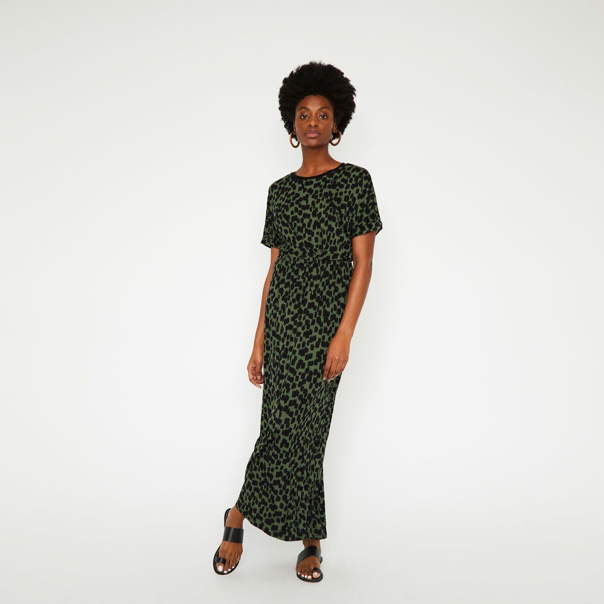 b81806de979 Brushed cheetah maxi dress in 2019