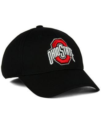 J America Ohio State Buckeyes Pique Ultra Core Flex Cap - Black M/L