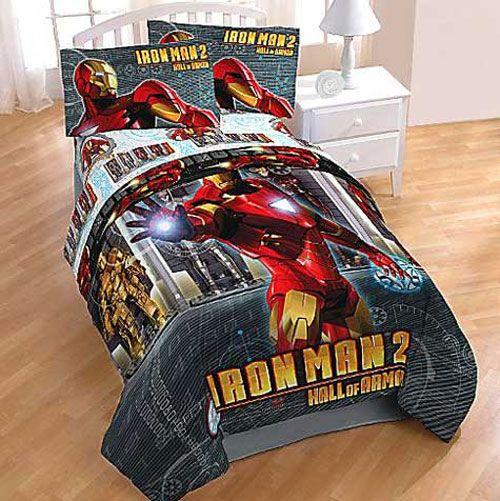 Iron Man Twin Sheets Hall Of Armor Bed Sheet Set Avengers Bedroom Decor Avengers Bedroom Boys Bedroom Decor