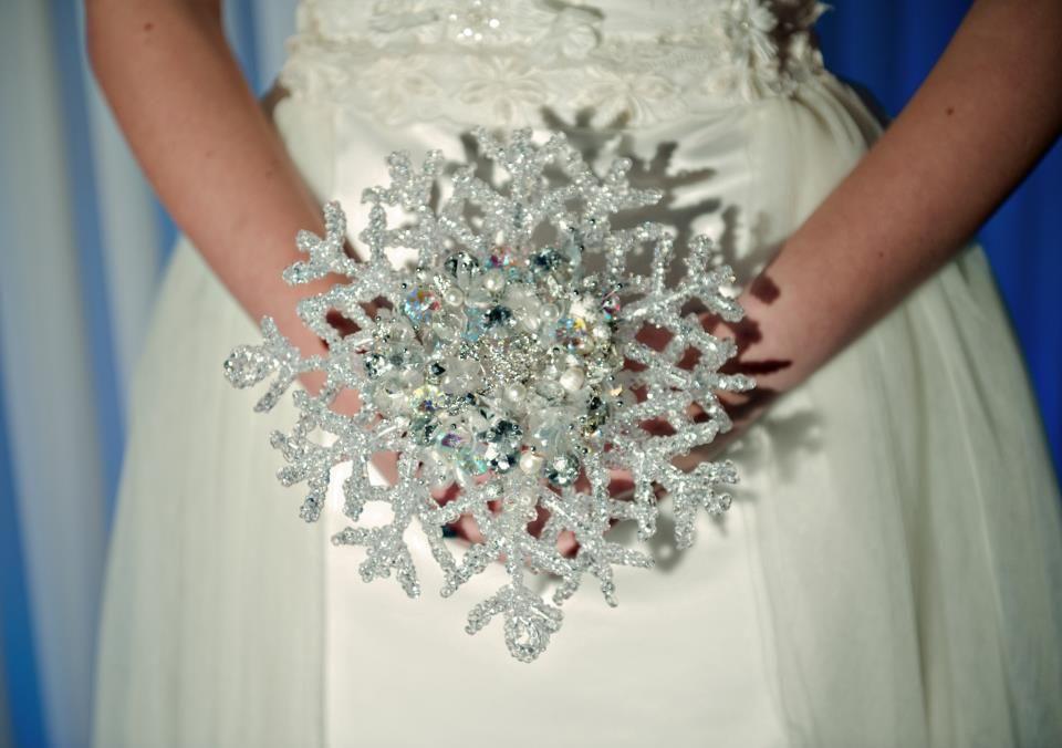 Love Bouquets On Winter Wonderland Wedding Theme Storybook