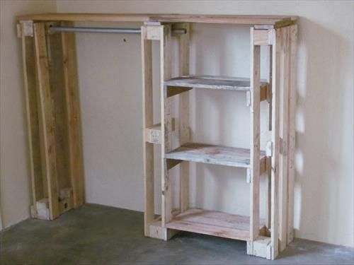 Diy Pallet Wardrobe Pallets Furniture Designs Creations Loft Bed Kids