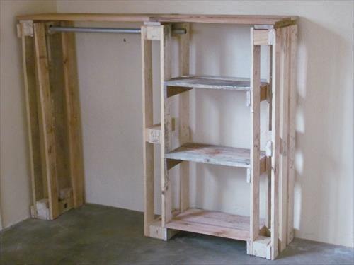 Homemade Closet Wardrobe ~ Diy pallet wardrobe furniture