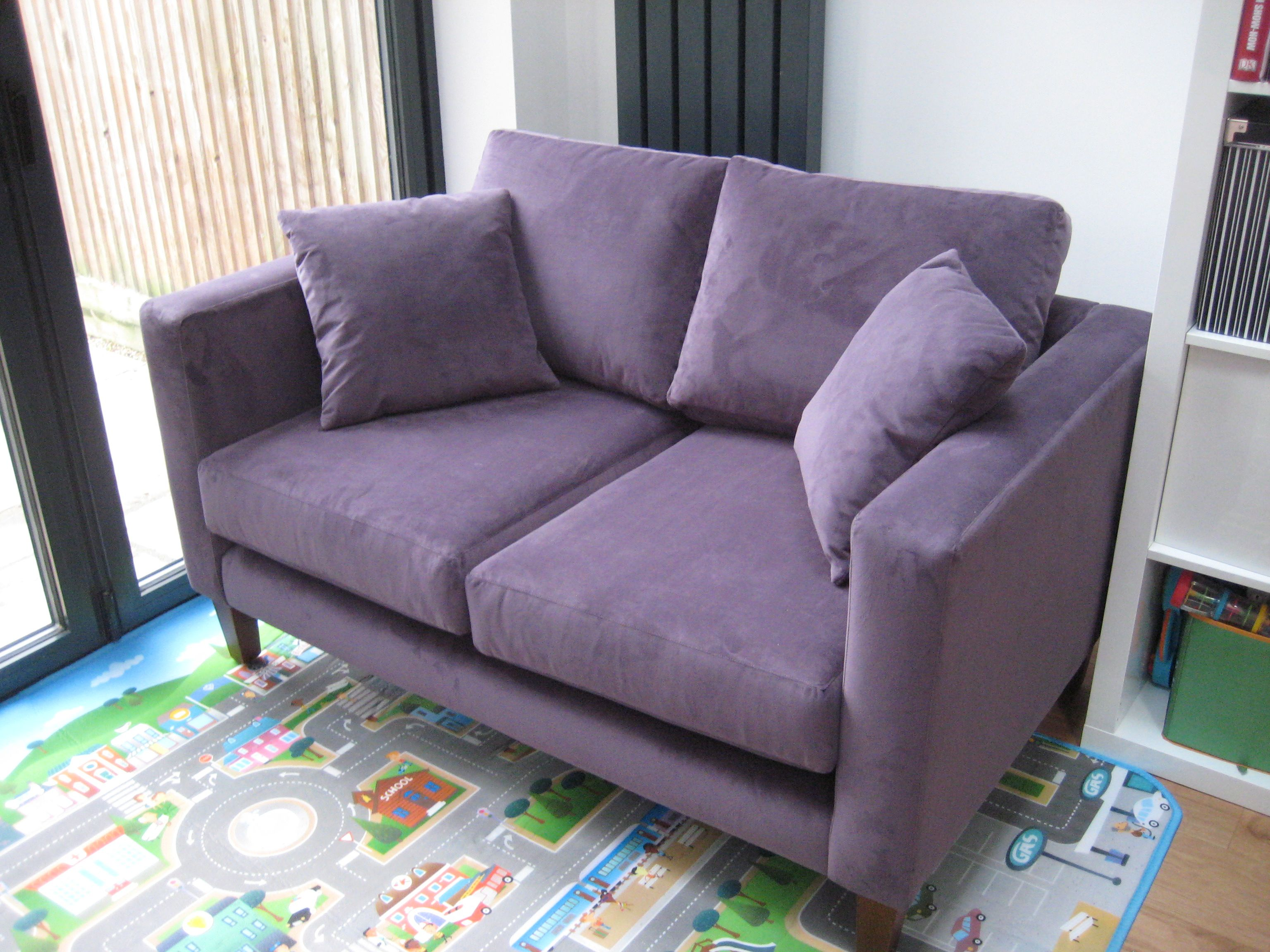 retro sofa made in the uk to order this small sofa is in linwood rh pinterest ca