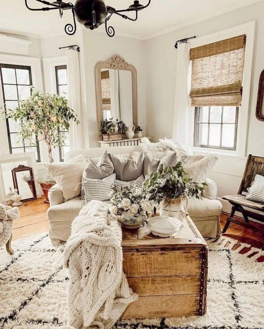 Best 10 Attractive Farmhouse Living Room Design And Decoration Ideas Farmhouse Decor Living Room Farm House Living Room Curtains Living Room