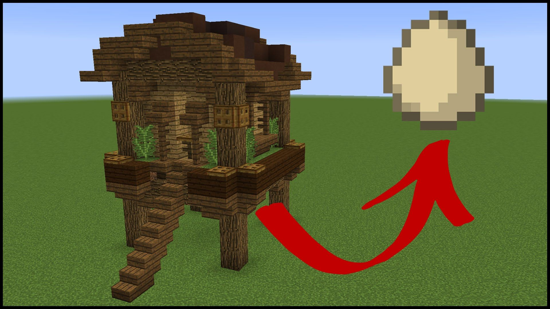 How to make a FUNCTIONAL minecraft chicken coop Diy