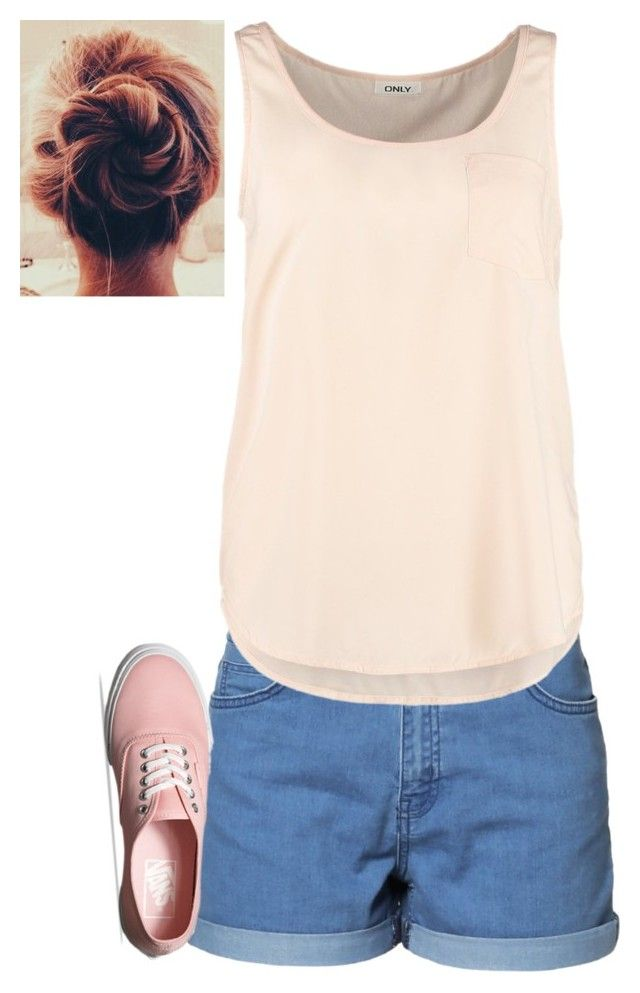 """Unbenannt #3579"" by mund-tot ❤ liked on Polyvore featuring Just Female, ONLY and Vans"