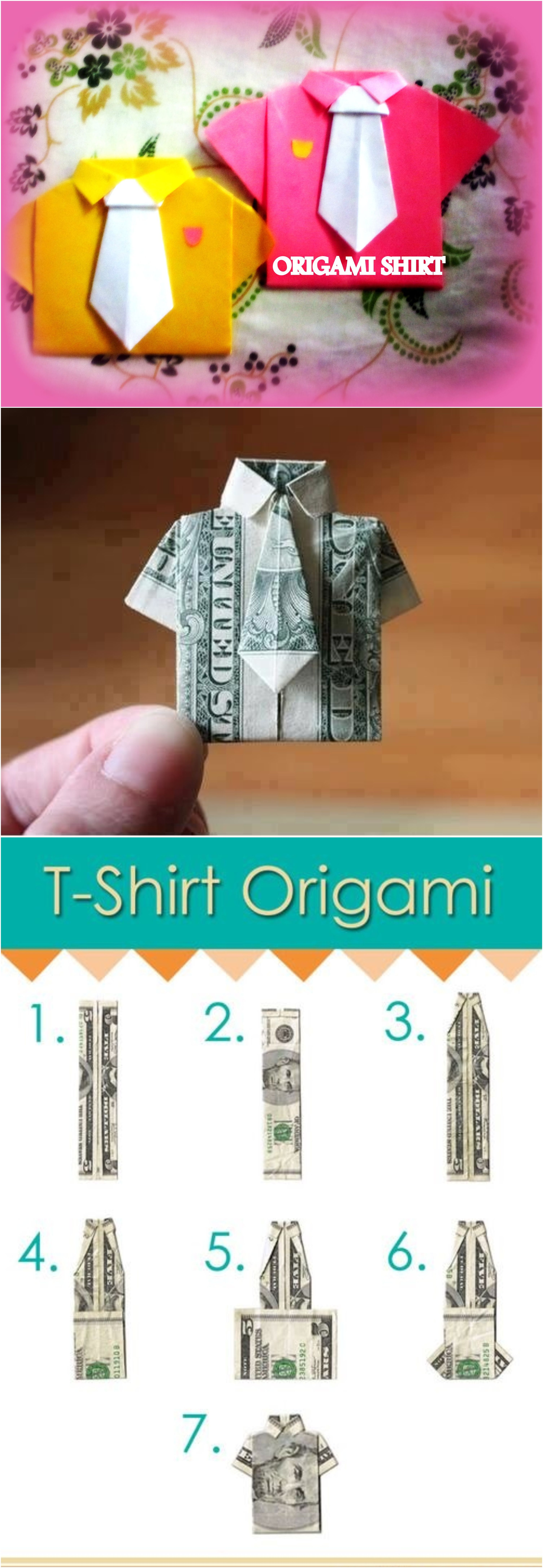 Money Origami Shirt Folding Instructions | 8690x3010