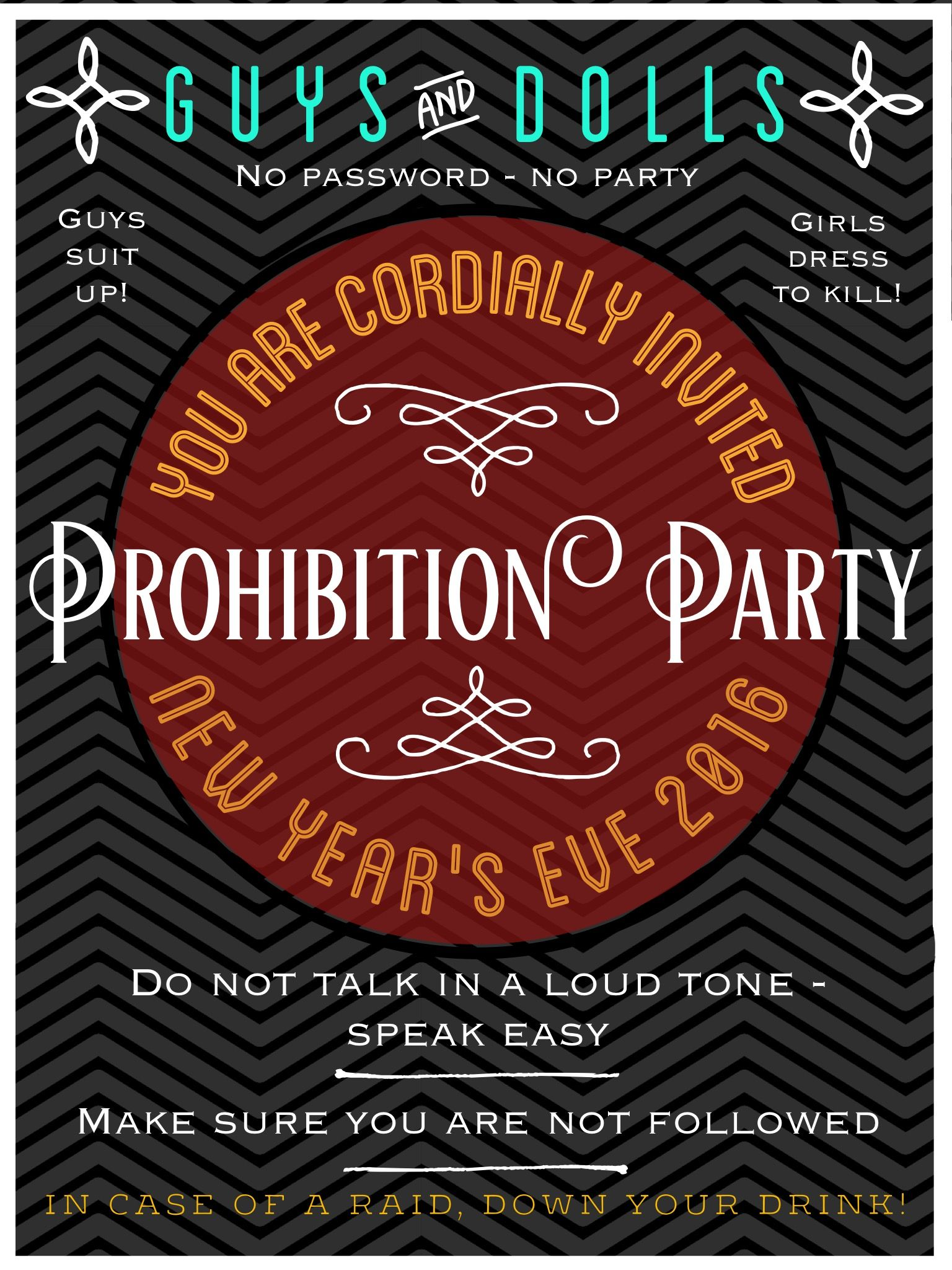 Awesome Gatsby Party Invites Ensign - Resume Ideas - megansmission.info
